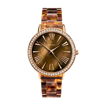 Sekonda Crystal Ladies' Brown Plastic Bracelet Watch - Product number 5118808
