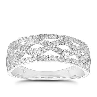 9ct White Gold 1/3ct Diamond Round Eternity Ring - Product number 5120357