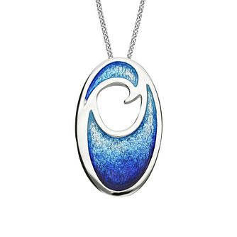 Ortak Coastal Sterling Silver Oval Pendant - Product number 5120500