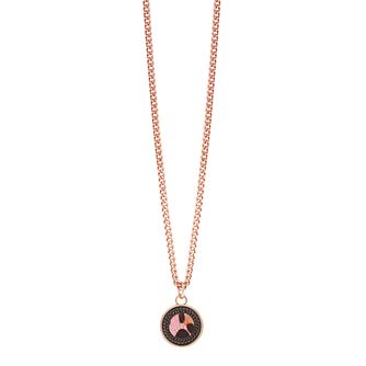 Guess Rose Gold-Plated Leopard Print Coin Pendant - Product number 5121221