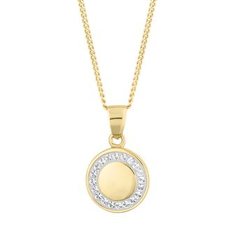 Evoke Silver & 9ct Gold Plated Crystal Halo Pendant - Product number 5123534