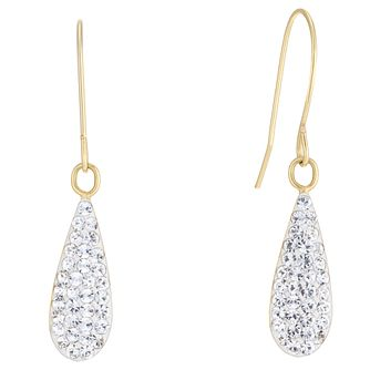 9ct Yellow Gold Cubic Zirconia Long Teardrop Drop Earrings - Product number 5123712