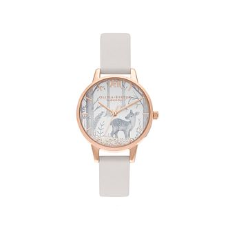 Olivia Burton Ladies' Grey Vegan Leather Strap Watch - Product number 5123747