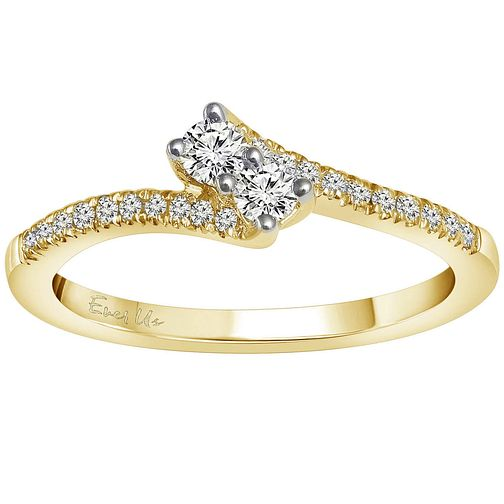 Ever Us 14ct Gold 1/4 Carat Diamond 2 Stone Ring - Product number 5125022