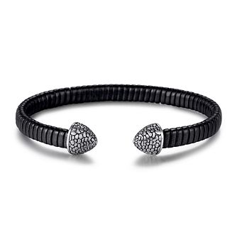 Kingka Leather & Stainless Steel Reptile Cuff Bracelet - Product number 5125928