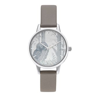 Olivia Burton Ladies' Grey Vegan Leather Strap Watch - Product number 5125995
