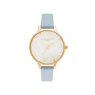 Olivia Burton Celestial Ladies Blue Leather Strap Watch - Product number 5126096