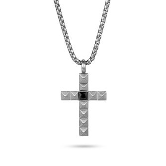 Kingka Stainless Steel Pyramid Design Cross Necklace - Product number 5126169