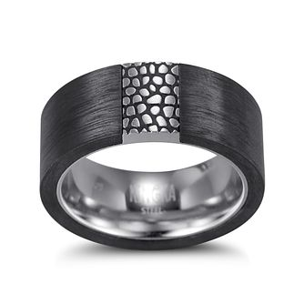 Kingka Men's Stainless Steel Carbon Reptile Ring - Product number 5126177
