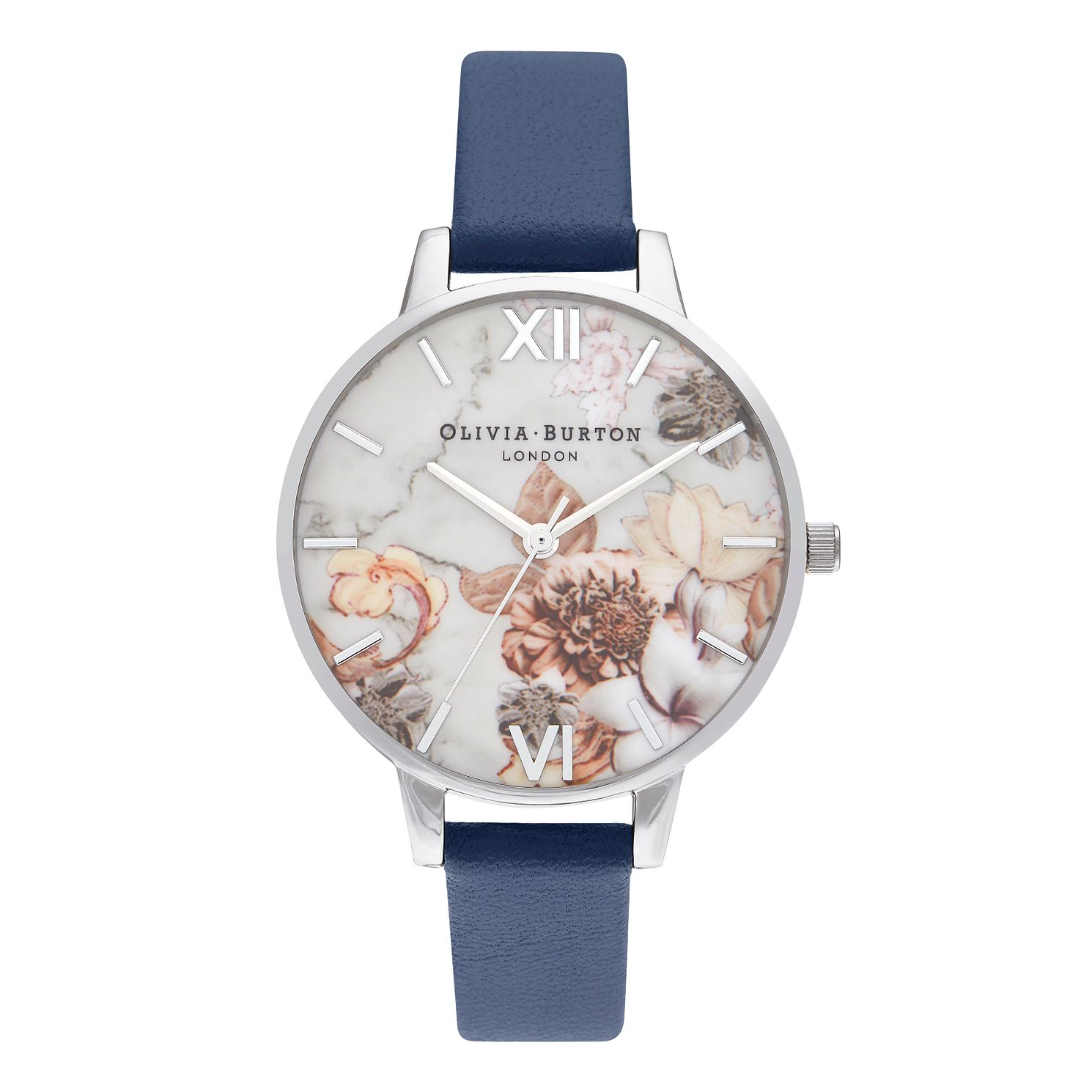 Olivia Burton Marble Floral Ladies' Leather Strap Watch - Product number 5126207