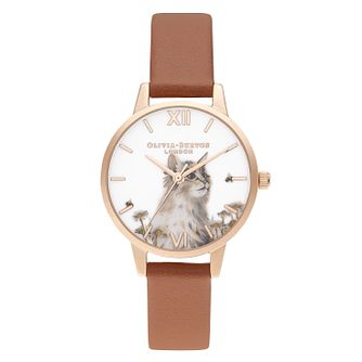 Olivia Burton Illustrated Animals Vegan Leather Strap Watch - Product number 5126215