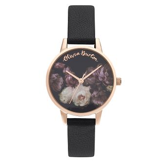 Olivia Burton Fine Art Ladies' Black Leather Strap Watch - Product number 5126703
