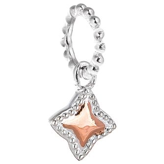 Chamilia Silver & Rose Gold-Plated Milgrain Star Charm - Product number 5126827