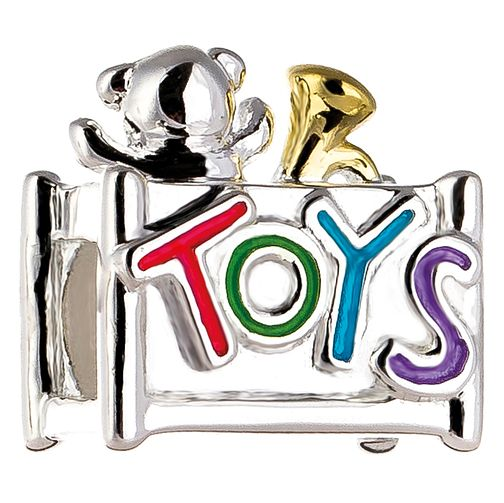 Chamilia Toy Box Charm with Gold Electroplating & Enamel - Product number 5126851