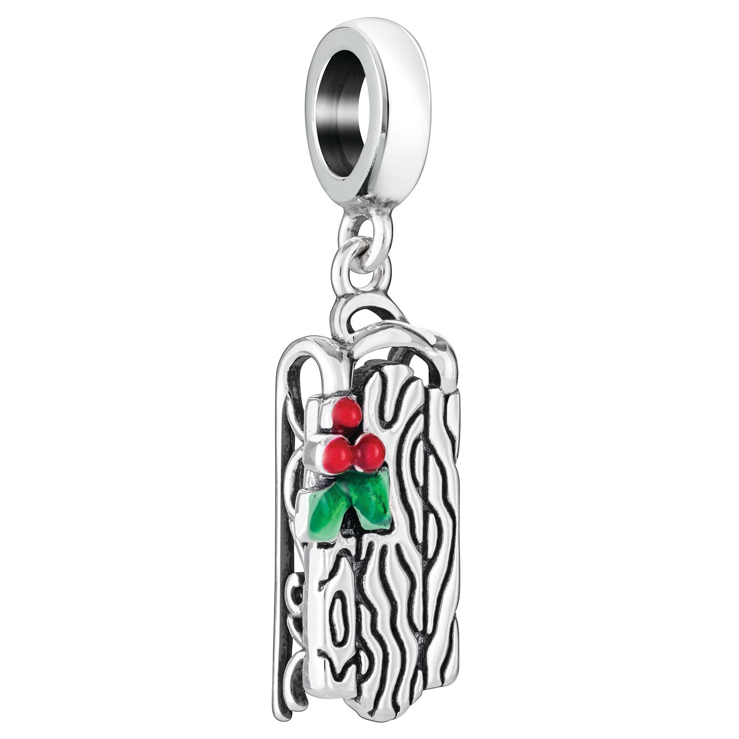 Chamilia Sled Charm with Red & Green Enamel - Product number 5126894