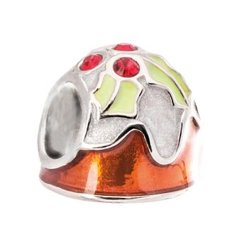 Chamilia Christmas Pudding Charm Enamel & Swarovski Crystal - Product number 5127181