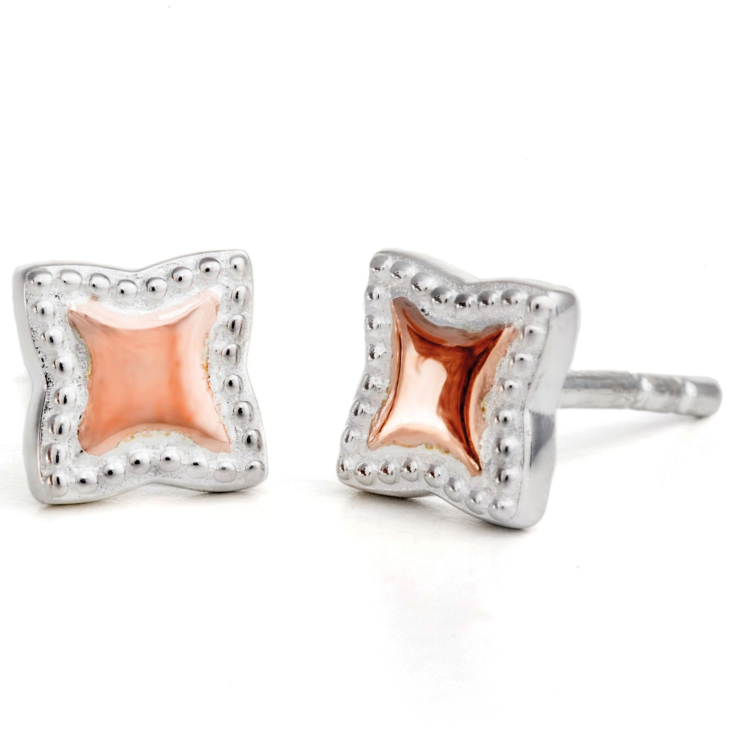 Chamilia Silver & Rose Gold-Plated Petite Star Stud Earrings - Product number 5127432