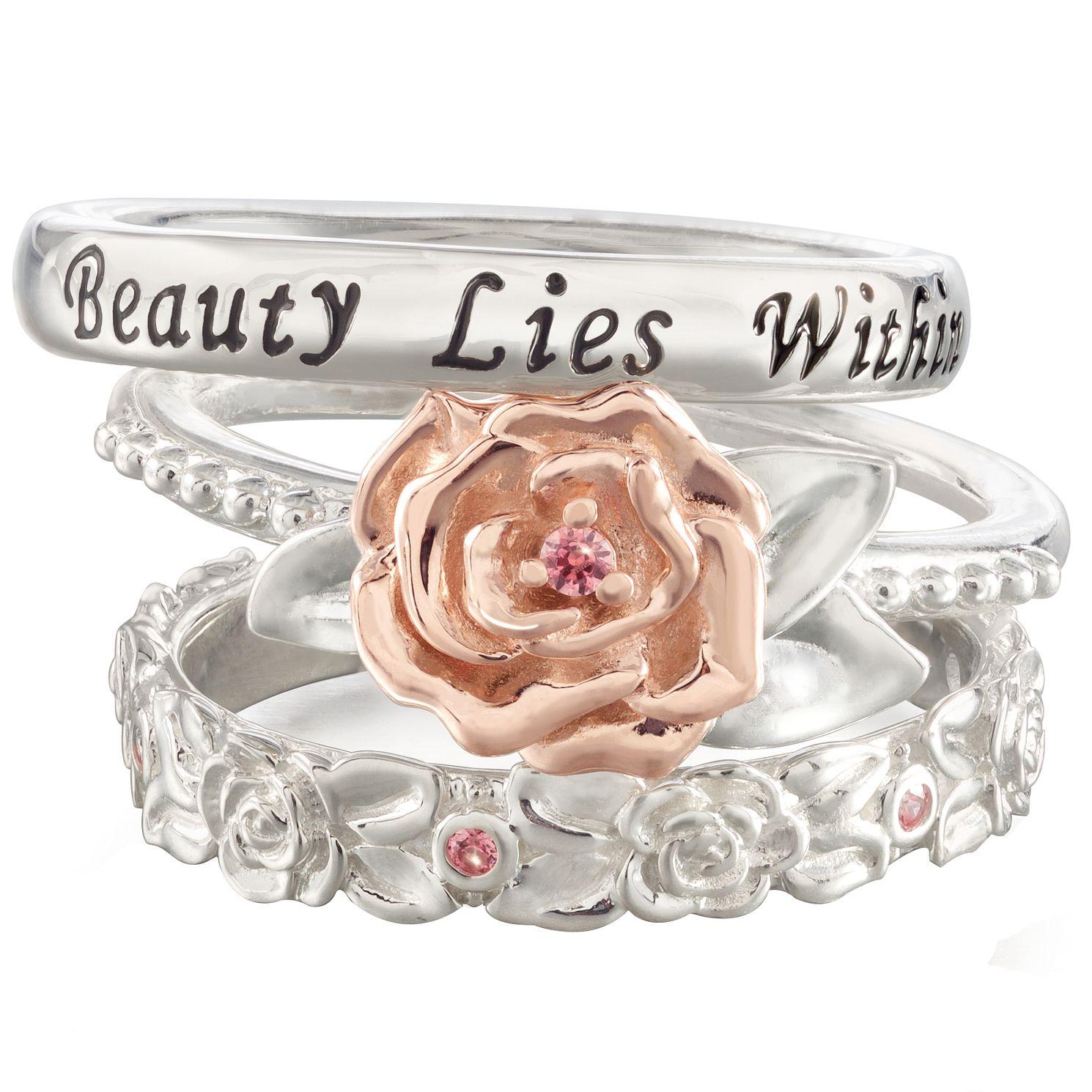 Chamilia Disney Beauty The Beast Stacker Ring Set Large Hsamuel