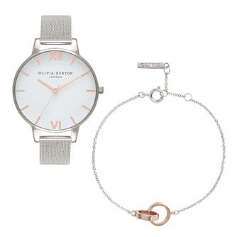Olivia Burton Interlink Rings Ladies' Watch & Bracelet Set - Product number 5128005