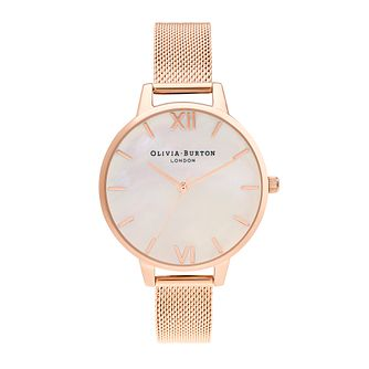 Olivia Burton Mother Of Pearl Rose Gold Tone Bracelet Watch - Product number 5128250