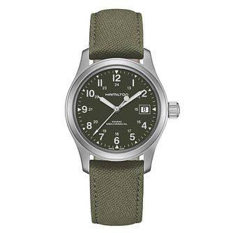 Hamilton Khaki Field Men's Green Strap Watch - Product number 5129451
