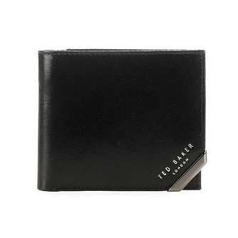 Ted Baker Korning Men's Metal Corner Black Coin Wallet - Product number 5129508
