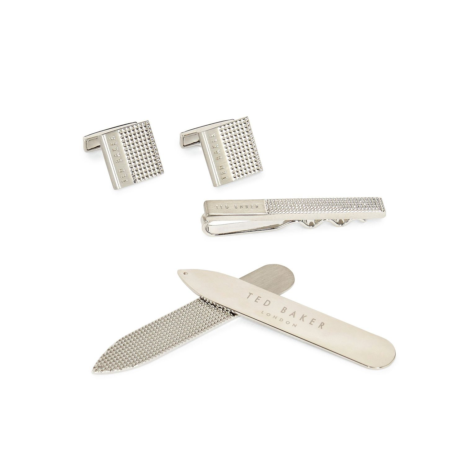 Ted Baker Blinder Cufflinks, Tie Bar & Collar Stiffener Set - Product number 5129532