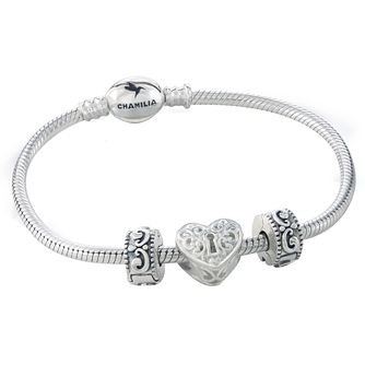 Chamilia Three Charm & Bracelet Gift Set - Product number 5131332