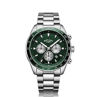 Rotary Henley Men's Green Dial Chronograph Bracelet Watch - Product number 5132134