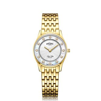 Rotary Ladies' Mother Of Pearl Gold Tone Bracelet Watch - Product number 5132509
