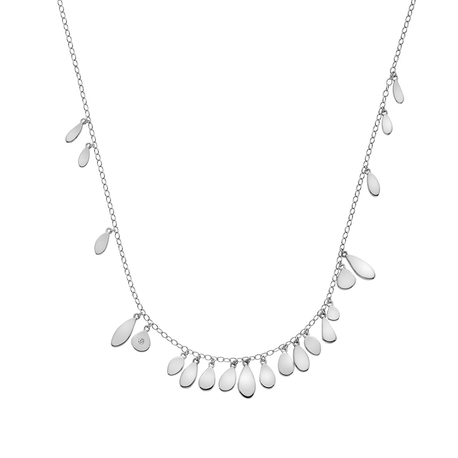 Hot Diamonds Sterling Silver Monsoon Statement Necklace - Product number 5132606