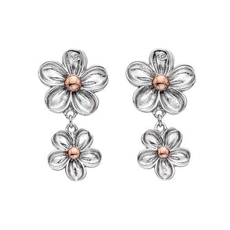 Hot Diamonds Sterling Silver Forget Me Not Drop Earrings - Product number 5132819