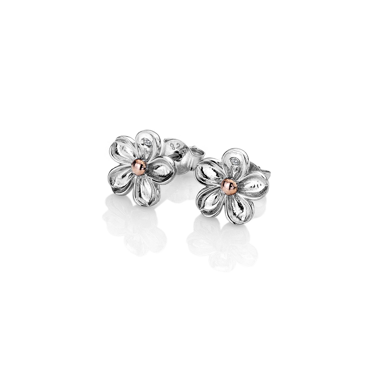 Hot Diamonds Forget Me Not Two Tone Stud Earrings - Product number 5132827