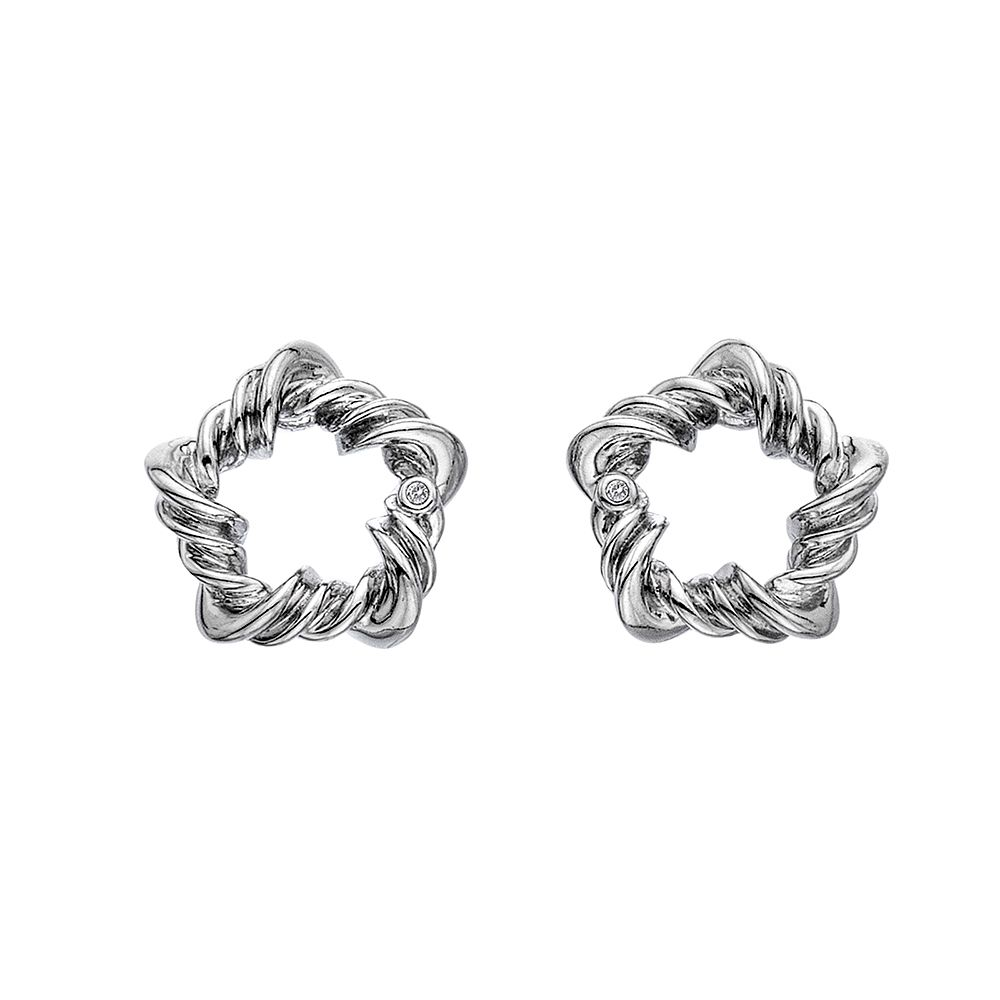 Hot Diamonds Sterling Silver Vine Star Stud Earrings - Product number 5132878