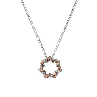 Hot Diamonds Silver & Rose Gold Tone Vine Star Necklace - Product number 5132924