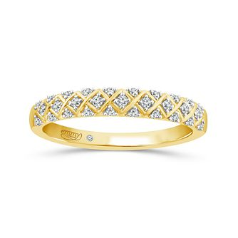 Emmy London 18ct Yellow Gold 0.12ct Diamond Eternity Ring - Product number 5133270