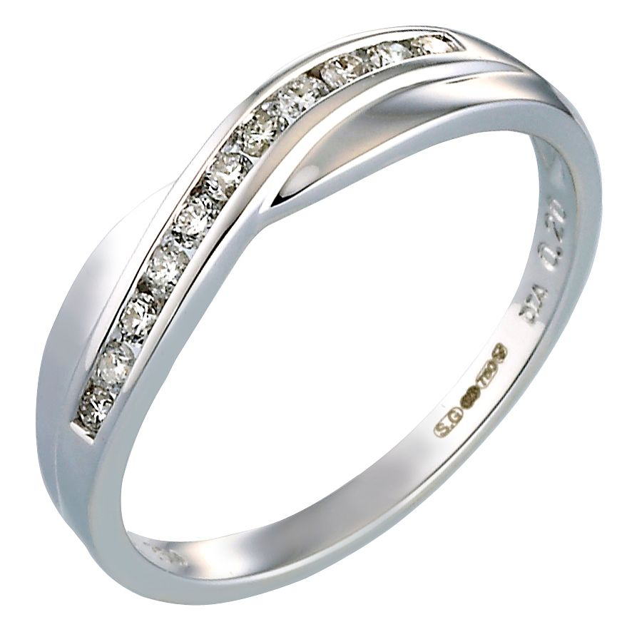 Bride's 18ct White Gold 0.20ct Diamond Wedding Ring - Product number 5135303