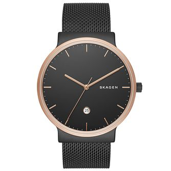 Skagen Ancher Men's Rose Gold Tone Strap Watch - Product number 5141486