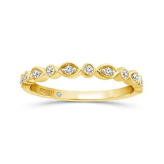 Emmy London 18ct Yellow Gold 1/10ct Diamond Eternity Ring - Product number 5142016