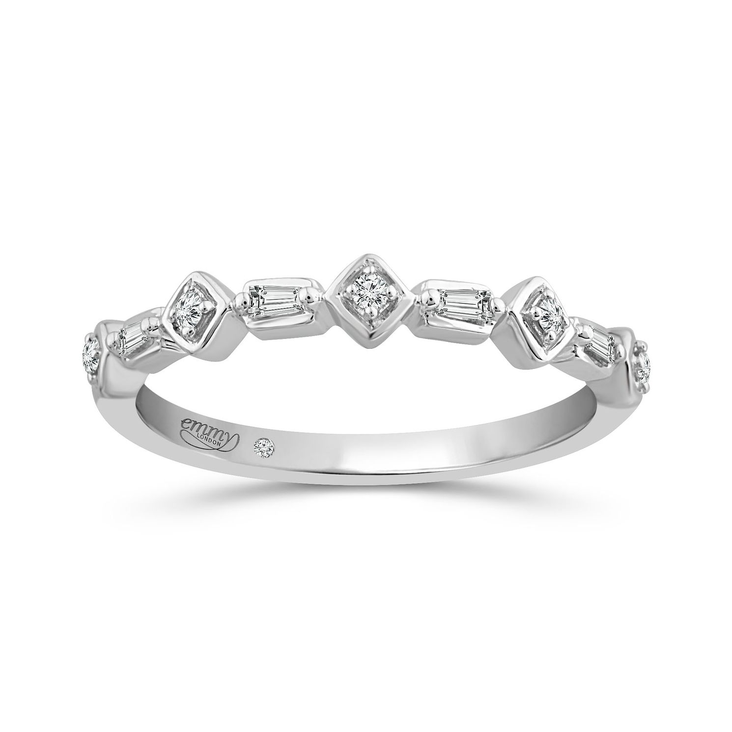 Emmy London 9Ct White Gold Fancy 0.07Ct Diamond Band - Product number 5149320