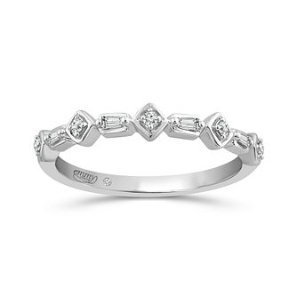 Emmy London 9ct White Gold Fancy Diamond Ring - Product number 5149320