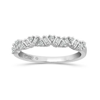 Emmy London 18Ct White Gold 0.12Ct Baguette Diamond Band - Product number 5152259