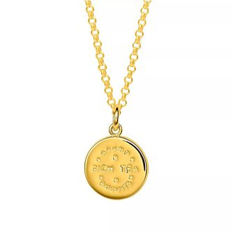Lily Charmed Gold Plated Silver Rich Tea Biscuit Pendant - Product number 5156165