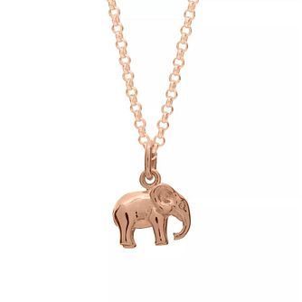 Lily Charmed Rose Gold Plated Silver Elephant Pendant - Product number 5156173