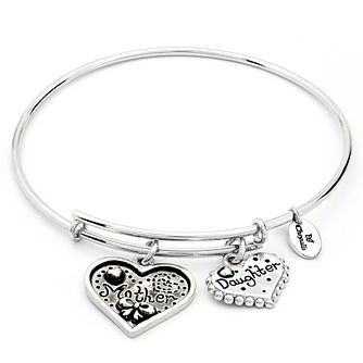 Chrysalis Rhodium plated Mother/Daughter Bangle - Product number 5156629