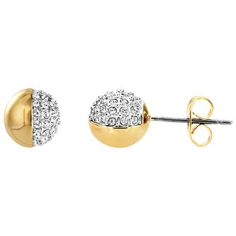Buckley London Greenwich Yellow Gold Tone Ball Crystal Studs - Product number 5163838