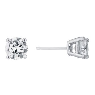 93a41caf9 9ct white gold cubic zirconia stud earrings - Product number 5164842
