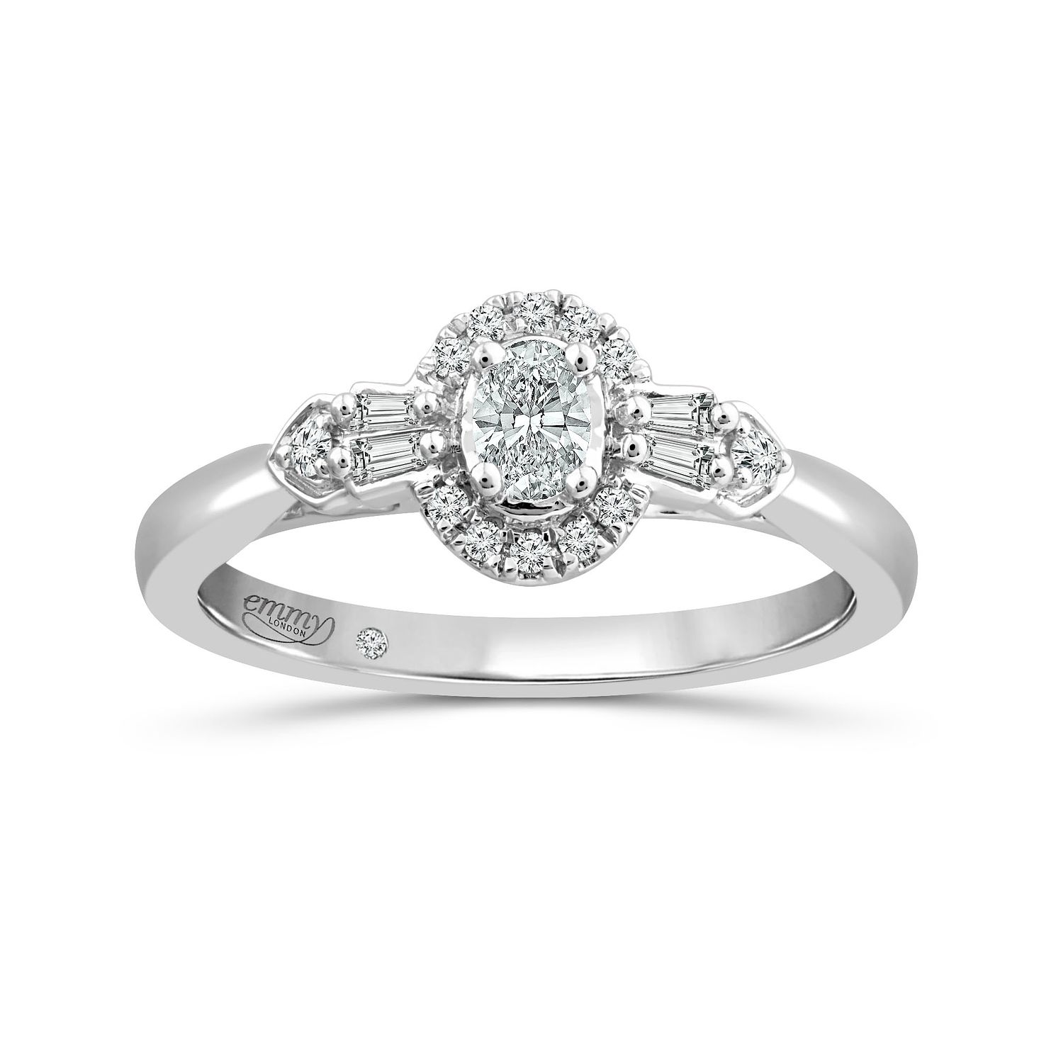 Emmy London 18Ct White Gold 1/4Ct Diamond Ring - Product number 5166632
