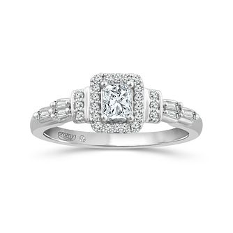 Emmy London 18ct White Gold 1/2ct Diamond Halo Ring - Product number 5167434