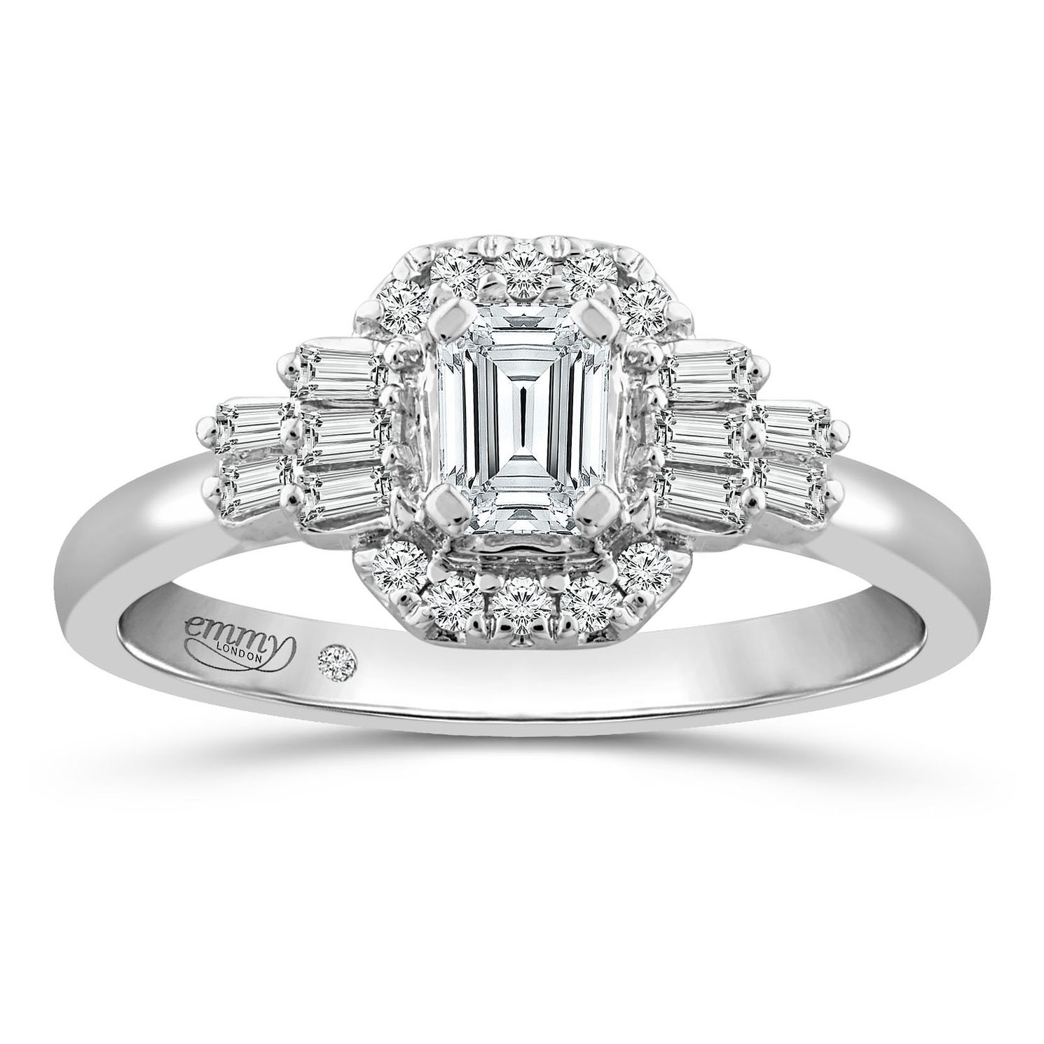 Emmy London Platinum 1/2ct Diamond Fancy Ring - Product number 5169364